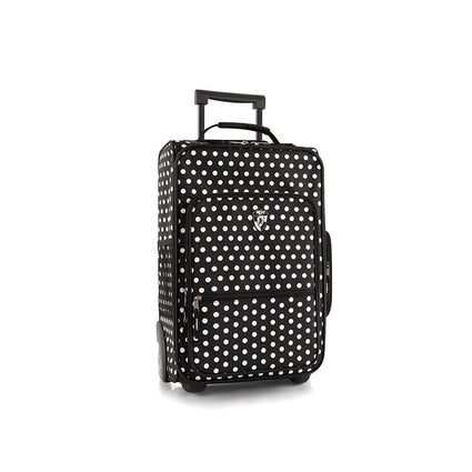 Kids Softside Luggage-Black/White Dots-18""