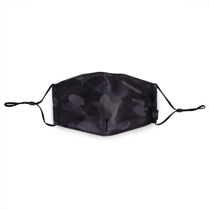 Reusable Face Mask - Black Camo
