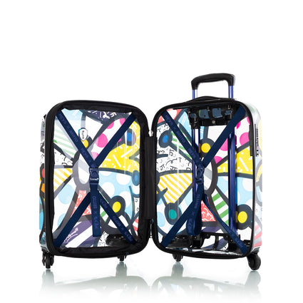 "Britto Transparent 21"" Carry-on and 5pc Packing Cube Set - Butterfly"