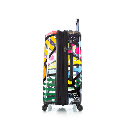 Britto Transparent 3PC. Luggage and 5pc Packing Cube Set - Butterfly