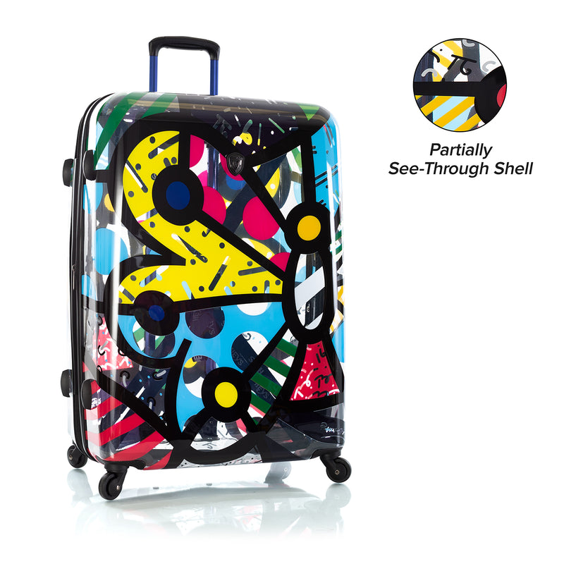"Britto - Butterfly Transparent 30"" - The Art of Modern Travel™"