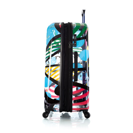 "Britto Transparent 30"" Luggage and 5pc Packing Cube Set - Butterfly"