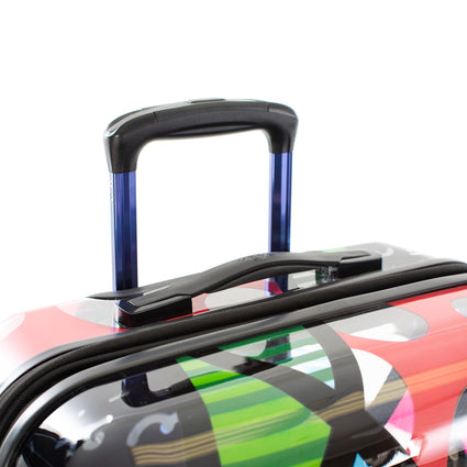 "Britto - Butterfly Transparent 21"" Carry-on - The Art of Modern Travel™"
