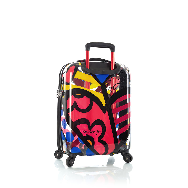 "Britto - A New Day Transparent 21"" Carry-on - The Art of Modern Travel™"