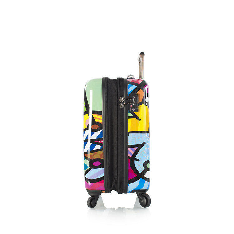 "Britto - Butterfly Love 21"" - The Art of Modern Luggage™"