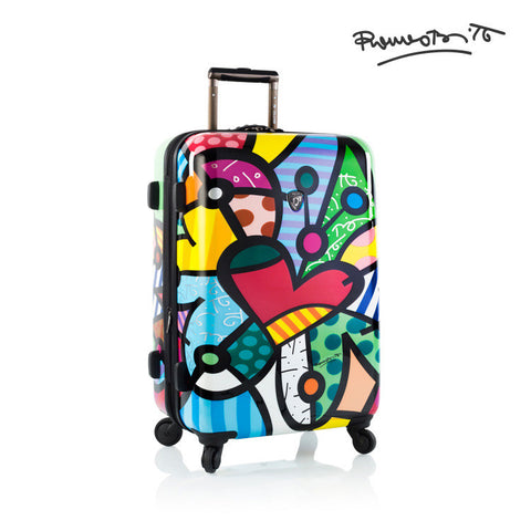 "Britto - Butterfly Love 26"" - The Art of Modern Luggage™"