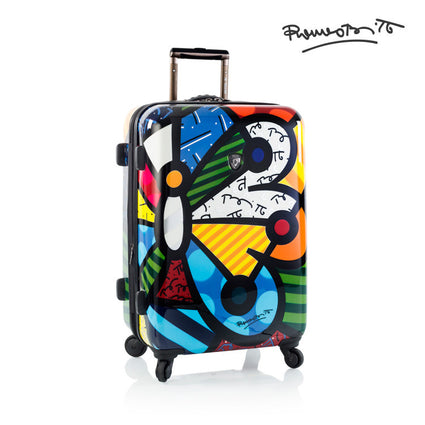 "Britto - Butterfly 26"" - The Art of Modern Luggage™"