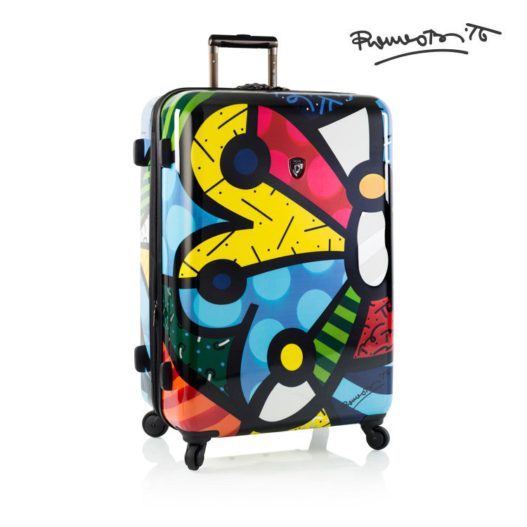 "Britto - Butterfly 30"" - The Art of Modern Luggage™"