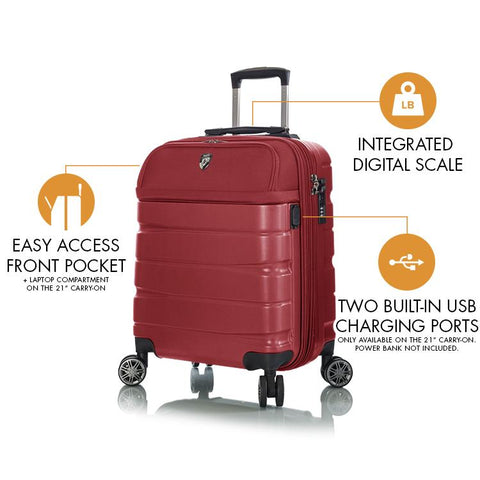 Charge-A-Weigh 3pc Luggage Set