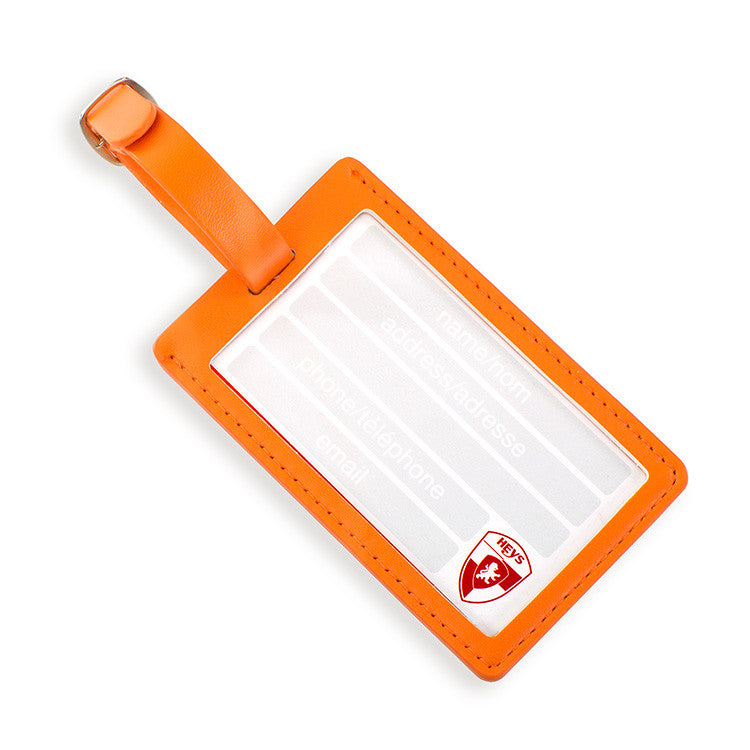 Orange Check Luggage Tag