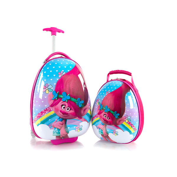 Trolls Kids Backpack and Luggage Set - (DW-HSRL-ES-ST-TR08-18AR)