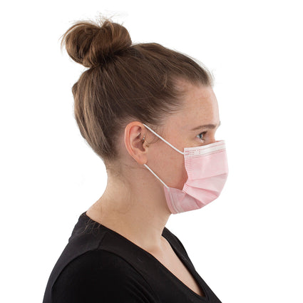 Disposable Face Masks - 50 Pack Pink