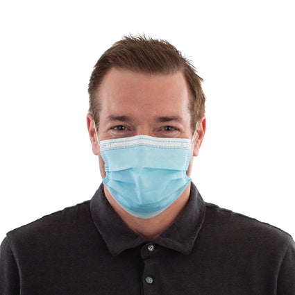 Disposable Face Masks - 50 Pack Blue