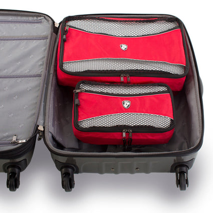 Ecotex 5 pc Packing Cube Set™with Front Zippered Pocket