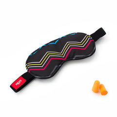 CMYK Zig-Zag Eye Shade & Ear Plug Set