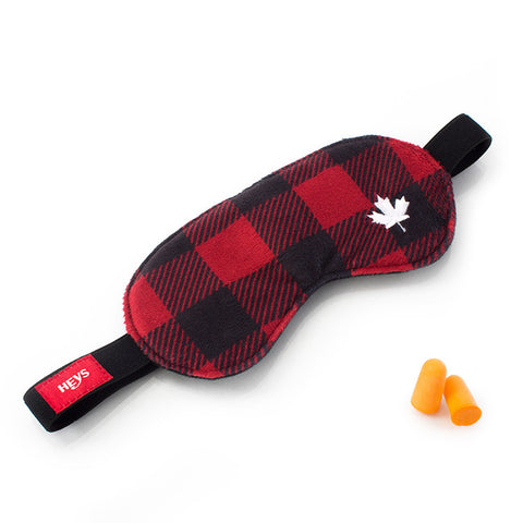 Canada Check Eye Shade & Ear Plug Set