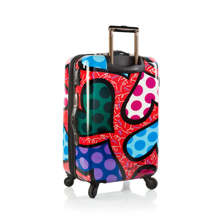 "Britto - Hearts Carnival 26"" - The Art of Modern Luggage™"