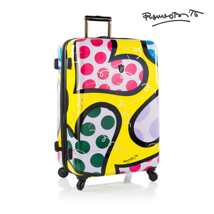 "Britto - Hearts Carnival 30"" - The Art of Modern Luggage™"