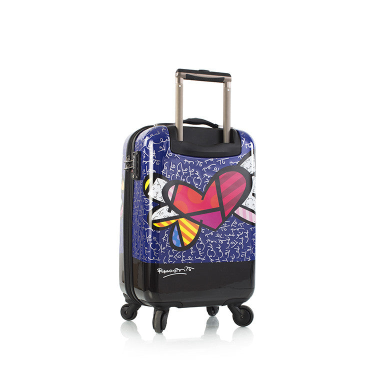 "Britto - Heart with Wings 21"" - The Art of Modern Luggage™"