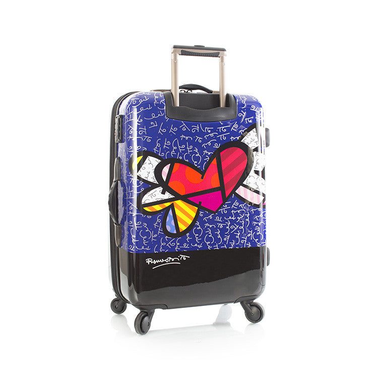 "Britto - Heart with Wings 26"" - The Art of Modern Luggage™"