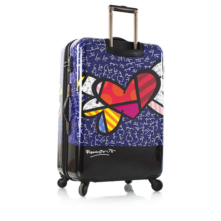 "Britto - Heart with Wings 30"" - The Art of Modern Luggage™"