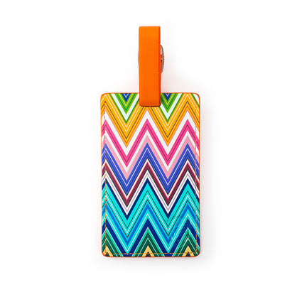 Colour Herringbone Luggage Tag