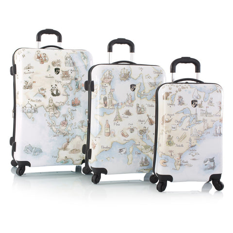 Illustrated Map Fashion Spinner™ 3pc. Set