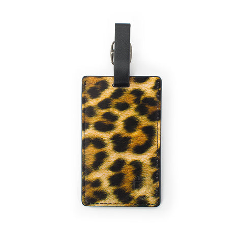 Leopard Luggage Tag