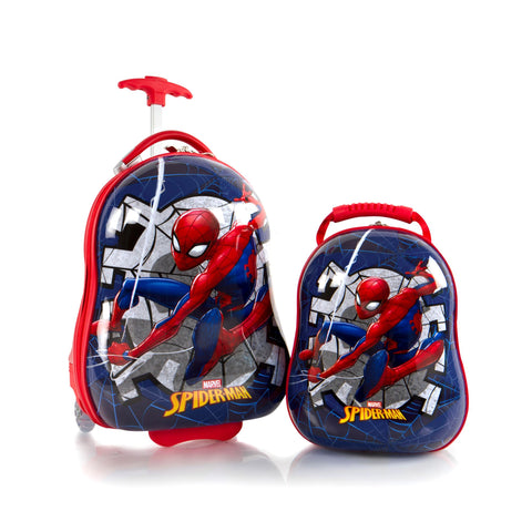 Marvel Kids Backpack and Luggage Set –Spider-Man - (M-HSRL-O-ST-SM02-17AR)