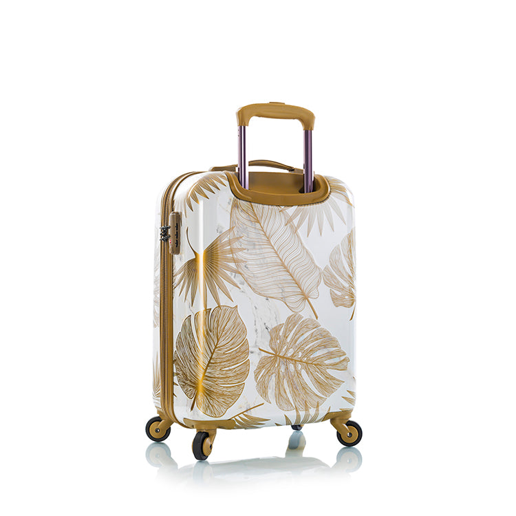 "Oasis White/Gold Leaf 21"" Fashion Spinner™ Carry-on"