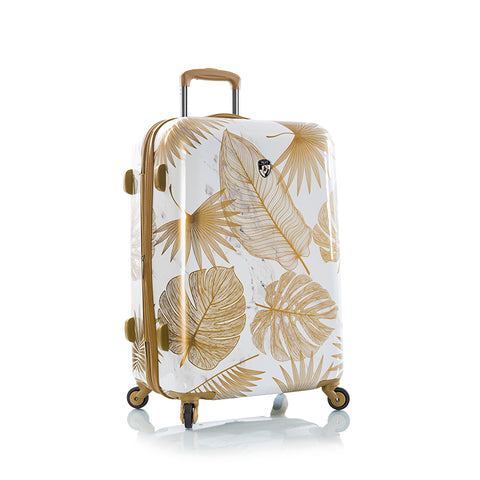 "Oasis White/Gold Leaf 30"" Fashion Spinner™"
