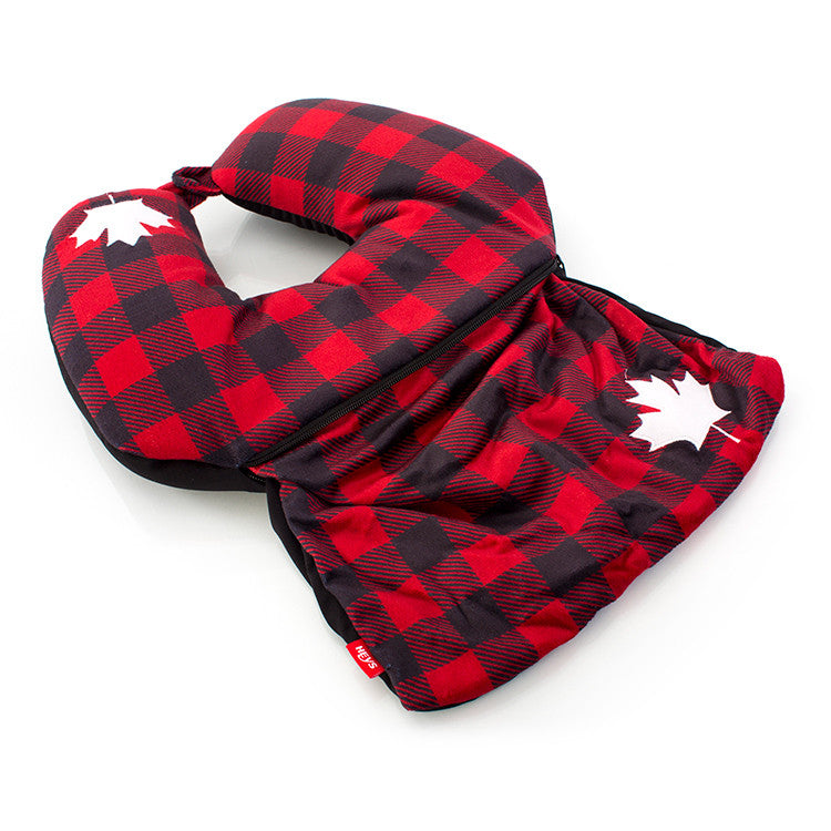 Canada Check 2-in-1 Travel Pillow
