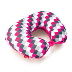 Pink Check 2-in-1 Travel Pillow
