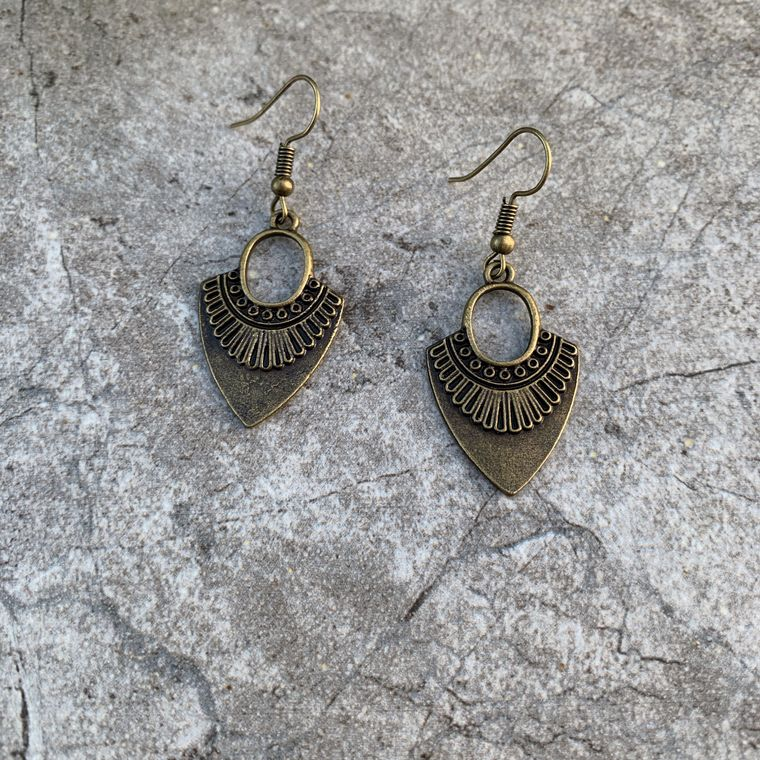 Antique Bronze Boho Earring