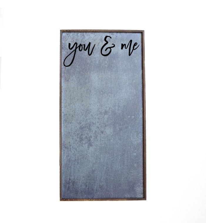12x24 Magnetic Photo Frame - You & Me Vertical