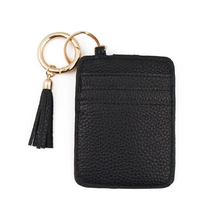 Black Credit Card Wallet Keychain