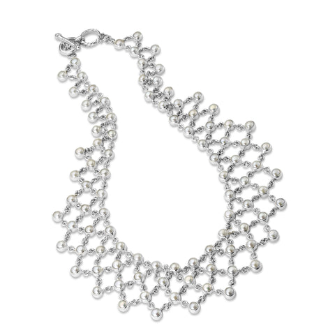 Glistening Web necklace from Samuel Behnam of Samuel B.