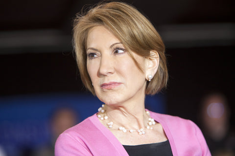 Former Republican presidential candidate Carly Fiorina in pearls Photo: Dreamstime