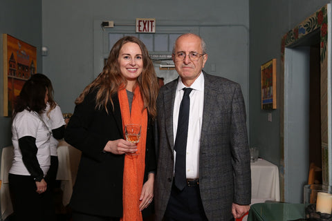 Eliko staffer Maren Chamorro and owner Aziz Basalely