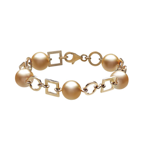 Jewelmer bracelet in 18k yellow gold with golden South Sea pearls