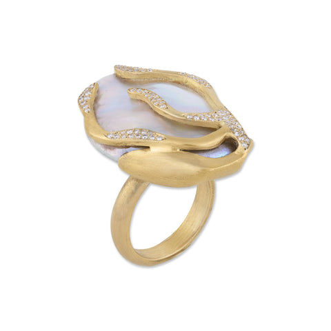 Lydia Freshwater Pearl ring by Lika Behar of Lika Behar Jewelry