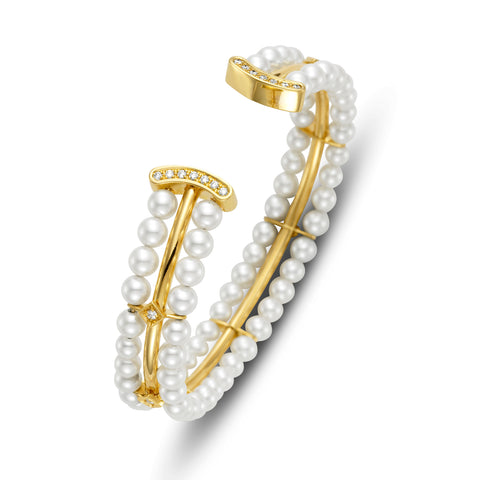Bracelet in 18k gold with pearls from Mastoloni