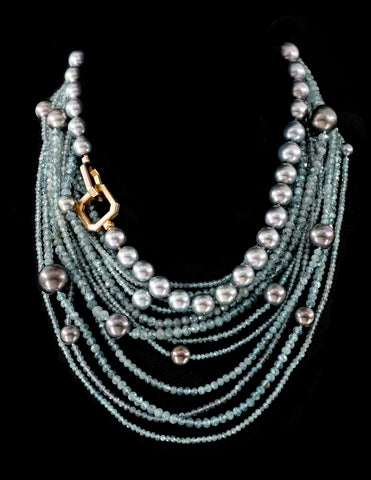 Ocean Diva necklace by Jennifer Pusenkoff of Jennifer Pusenkoff Jewelry
