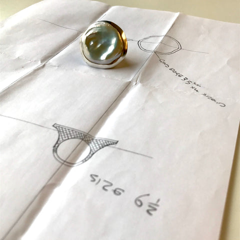 New York City–based jewelry designer Ray Griffiths recently made a unique custom pearl ring.