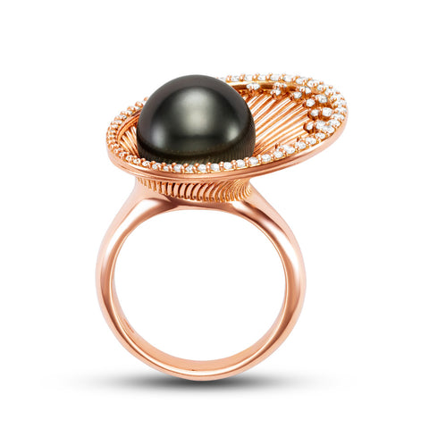 Eclisse Tahitian Pearl ring by Mastoloni