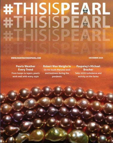 #thisispearl premiere issue December 2020 cover, from the Cultured Pearl Association of America