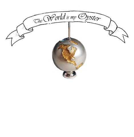 The World is My Oyster pendant necklace by Niki Kavakonis of Niki Kavakonis Designs in Toronto, Canada