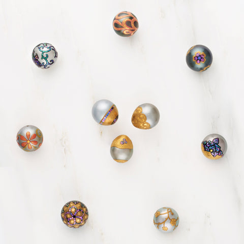 Maki-e and mosaic pearls from Eliko Pearl