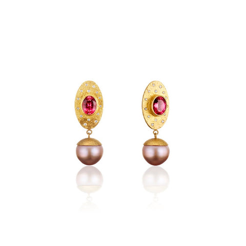 Pearl Empress earrings by Deborah Meyers of Deborah Meyers Experience