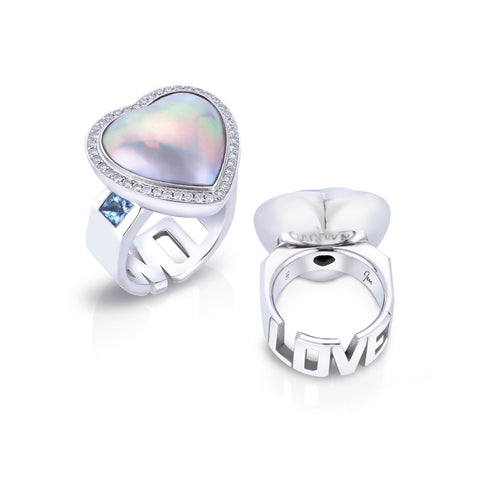 Rockin' Love ring by Jennifer Pusenkoff of Jen International